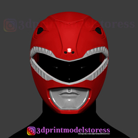 Small Red Ranger Mighty Morphin Power Ranger Helmet Cosplay STL File 3D Printing 284441