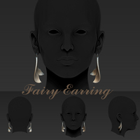 Small Fairy Earring 3D Printing 28447