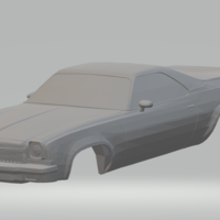 Small chevrolet el camino slot car  3D Printing 284642