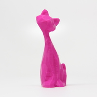 Small Low Poly Leaning Cat 3D Printing 28469