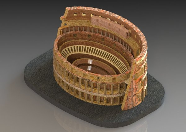 Medium Colosseum 3D Printing 28477