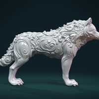 Small Wonderful Wolf 3D Printing 284831