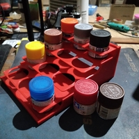 Small paint bottle holder 3D Printing 284889
