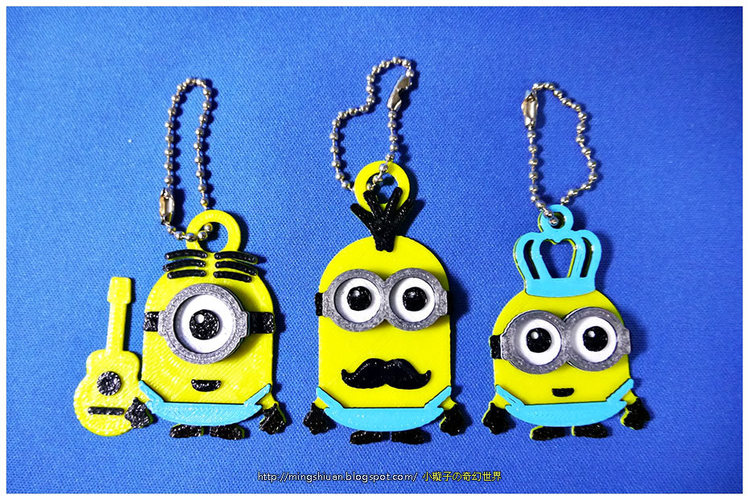 Minions Keychain / Magnets - Father's Day cute version 3D Print 28495