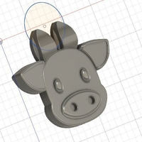 Small Cyphers - Timothy Steve Wolf - cow pendant /costume play 3D Printing 284987