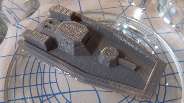 Medium  Gunboat(low poly) code name: Nerpa 3D Printing 28517