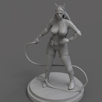 Small Catwoman Sculpture 3D Printing 285593