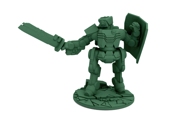Brontes Heavy Assault Robot (28mm scale) 3D Print 28567