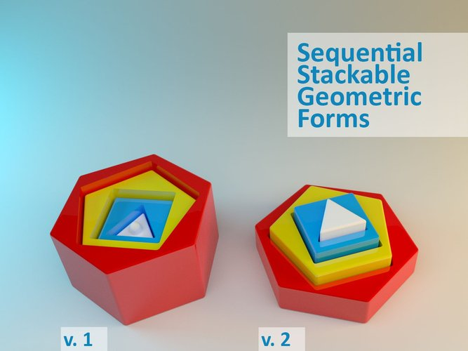 Sequential Stackable Geometric Forms 3D Print 28570
