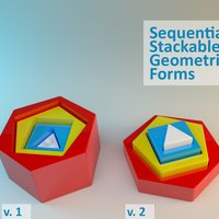 Small Sequential Stackable Geometric Forms 3D Printing 28570