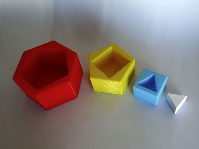 Sequential Stackable Geometric Forms 3D Print 28572