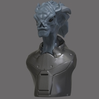 Small Alien Bust 3D Printing 285846