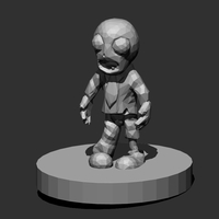Small Low Poly Zombie 3D Printing 28643