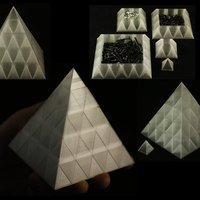 Small Pyramid Fugue Storage Trays 3D Printing 28652