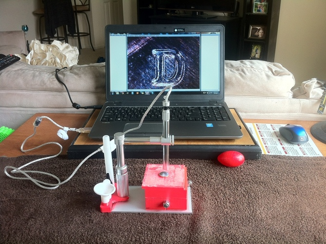 USB Microscope Stage and Tripod Mount 3D Print 28716