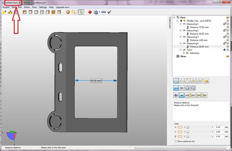 Measure Parts in STL Format with a Digital Ruler 3D Print 28728