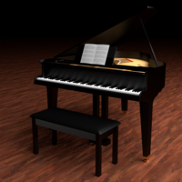 Small a Grand Piano 3D Printing 287617
