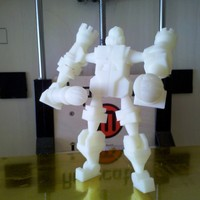 Small Chessbot Hero Transforming Chess Set 3D Printing 2877