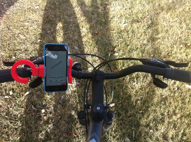 3-Way Universal Phone Dock: For the Car, Tripod, & Bicycle 3D Print 28776