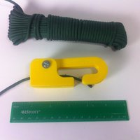 Small No Tie Paracord Cam Lock with Hook 3D Printing 28785