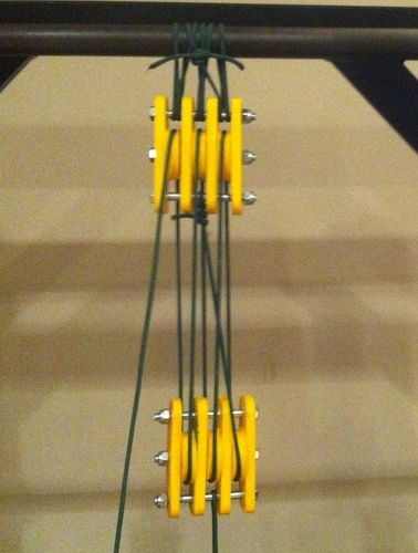 High Strength Paracord Block and Tackle Pulley 3D Print 28792