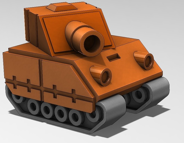 Medium Tank Model from Advance Wars Game  3D Printing 28810