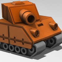 Small Tank Model from Advance Wars Game  3D Printing 28810
