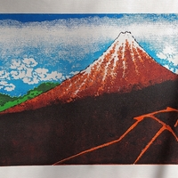 Small Ukiyo-e Woodblock Printing - Shower Below the Summit 3D Printing 288254