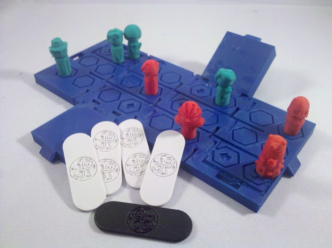TARDIS Run board game Print-In-One 3D Print 2883
