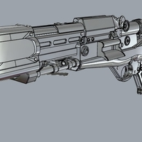 Small TL-50 Heavy Blaster from Star Wars 3d print model 3D Printing 288313