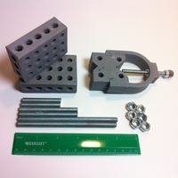Small 1-2-3 Block & V-Block Jig Set 3D Printing 28833