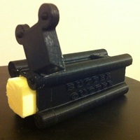 Small The Butter Cutter - A convenient way to serve butter! 3D Printing 28845