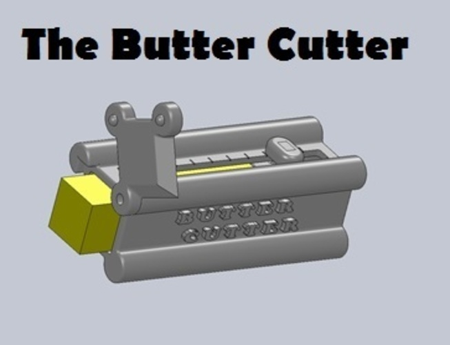 The Butter Cutter - A convenient way to serve butter! 3D Print 28847