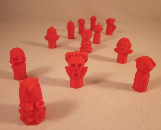 Doctor Who Monster Pawns 3D Print 2885