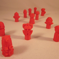 Small Doctor Who Monster Pawns 3D Printing 2885