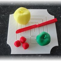 Small Coasters, breakfast- ,lunch- , dinner- and fruit-plates 3D Printing 28872