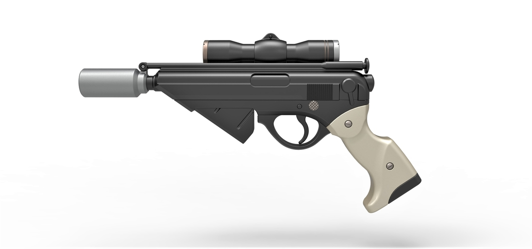 Blaster pistol Night Sniper X-8 from Star Wars 3D Print 288762