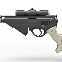 Small Blaster pistol Night Sniper X-8 from Star Wars 3D Printing 288762