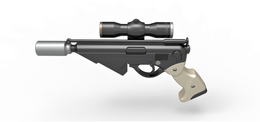 Blaster pistol Night Sniper X-8 from Star Wars 3D Print 288763