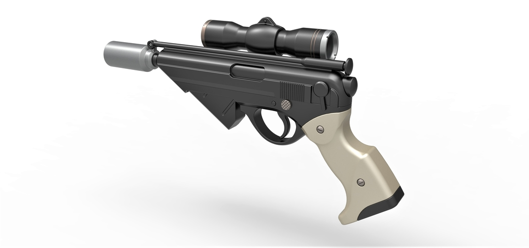 Blaster pistol Night Sniper X-8 from Star Wars 3D Print 288765