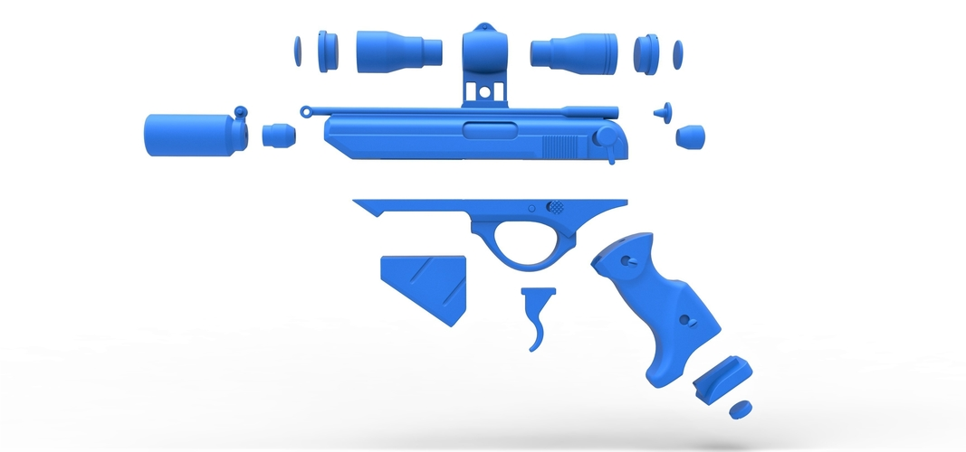 Blaster pistol Night Sniper X-8 from Star Wars 3D Print 288775
