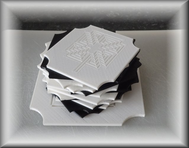 Coasters, breakfast- ,lunch- , dinner- and fruit-plates 3D Print 28878