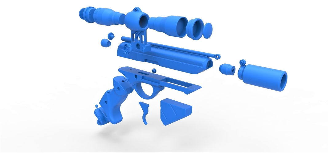 Blaster pistol Night Sniper X-8 from Star Wars 3D Print 288780