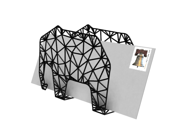 Elephant Envelope Holder 3D Print 28937