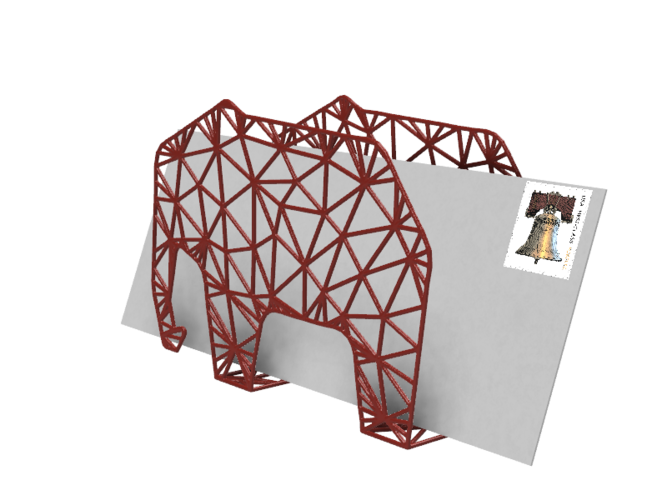 Elephant Envelope Holder 3D Print 28938