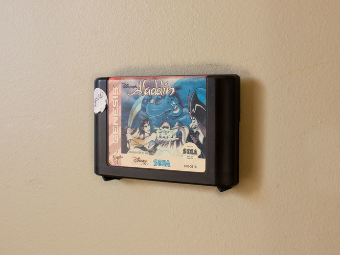 Aladdin's Pants: Wall Mount Cartridges for Retro Systems 3D Print 289490