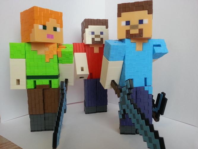 3d Printed Minecraft Steve By Coufi2002 Seznam Cz Pinshape
