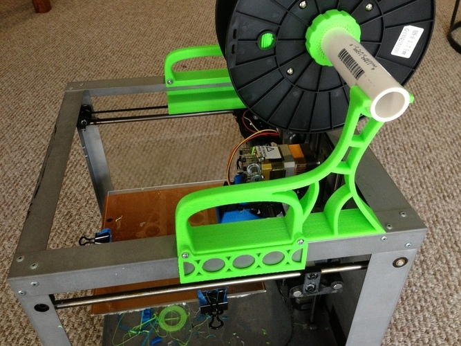 Solidoodle Carry Handle and Spool Holder 3D Print 29025