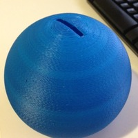 Small Sphere Piggy Bank 3D Printing 29039