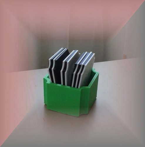 Coaster box and Coaster/Plate rack 3D Print 29044